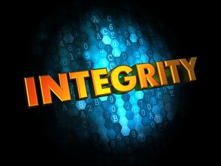 Integrity Concept on Digital Background.