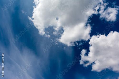 Soft Clouds On Summer Blue Sky