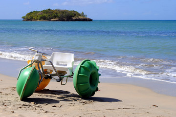 Water bike on Halcyon Beach St Lucia