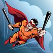 Hero with baseball bats