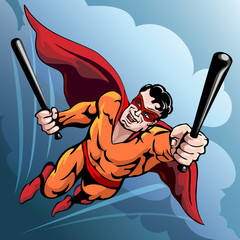 Hero with baseball bats