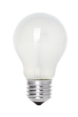 Isolated mate light bulb