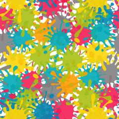 Vector Splash Abstract Seamless Pattern Background