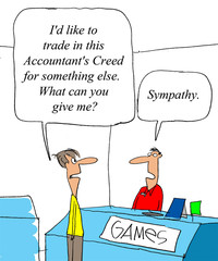 Trade in accounting game at game store