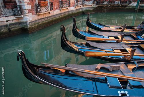 In de dag Gondolas Gondolas, Venecia, Italy