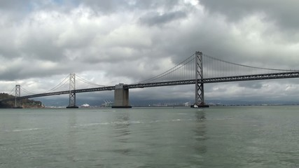 San Francisco - Oakland Bay Bridge as seen from the Embarcadero.