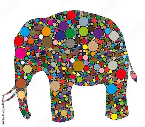 Fototapeta elefante composto da colori