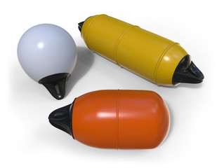 Buoy and fenders for boat protection