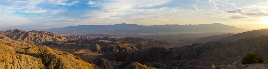 Panoramic View of Desert Landscape