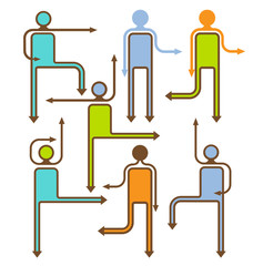 arrow people directional icons