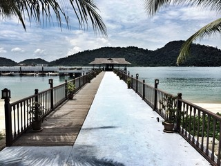 approach jetty on a beach in malaysia