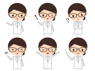 医者 研究者 表情 セット