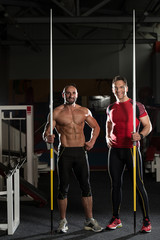 Portrait Of A Physically Fit Men With Javelin