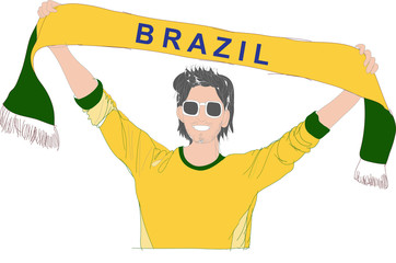 Brazil cheering team