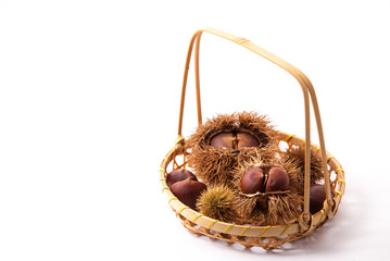 chestnuts were served in a basket