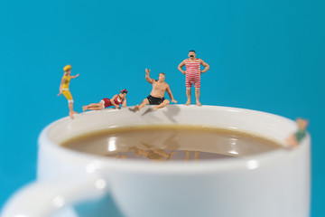 Plastic People Swimming in Coffee