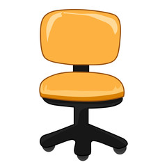 Office chair isolated illustration