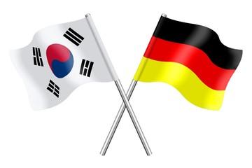 Flags : South Korea and Germany