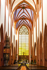 interior of St Mary Magdalene's Church, Wroclaw, Silesia, Polan