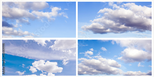 collection of images of blue sky with clouds