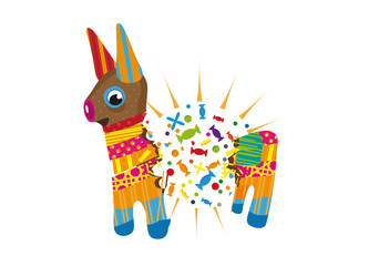 zerschlagene Piñata