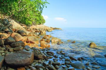 The rock beach at Khao Lak - Lam Ru, South of Thailand