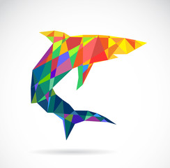 Vector image of an shark design