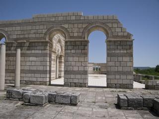 The Great Basilica at the ancient Bulgarian capital Pliska