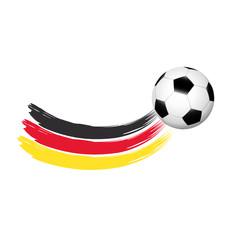 Fußball mit deutscher Flagge als Wischer
