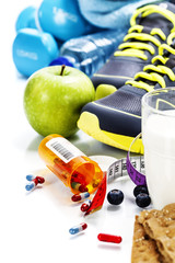 Different tools for sport and pills