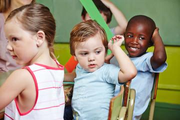 Kinder in Gruppe einer Vorschule