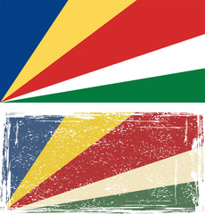 Seychelles grunge flag. Vector illustration.