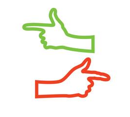 directional indicator hand