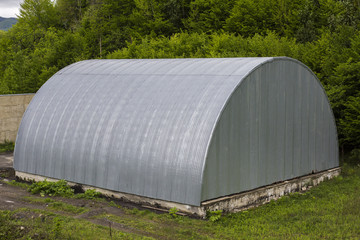 Metal hangar for storage
