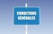 panneau conditions générales