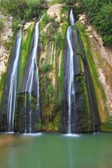 The three-jet waterfall
