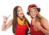 Zwei weibliche Fußballfans