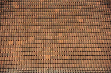Old brick roof tiles