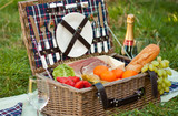 Picnic Basket and Champagne