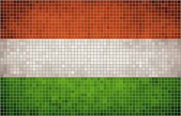Flag of Hungary, mosaic