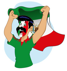 Mexican supporter vibrating