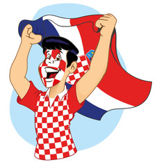 Croatian supporter vibrating
