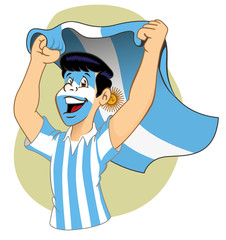 Argentine supporter vibrating