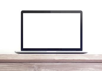 Modern laptop computer on a desk