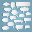 Paper Chat Bubbles Illustration - 65097777