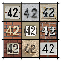 Collage of House Numbers Forty-two