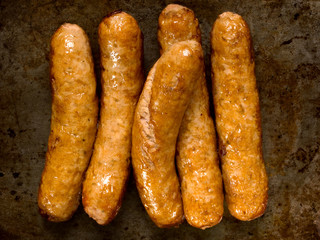 rustic cooked sausages