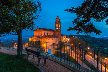 Night view of Diano D'Alba.