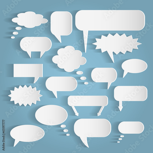 Paper Chat Bubbles Illustration