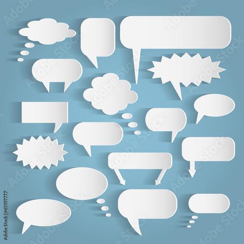 Paper Chat Bubbles Illustration - 65097777